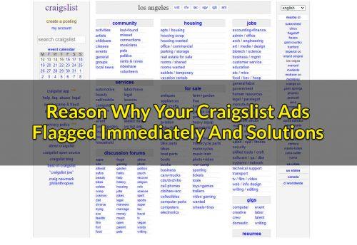 Craigslist Ads Flagged Immediately